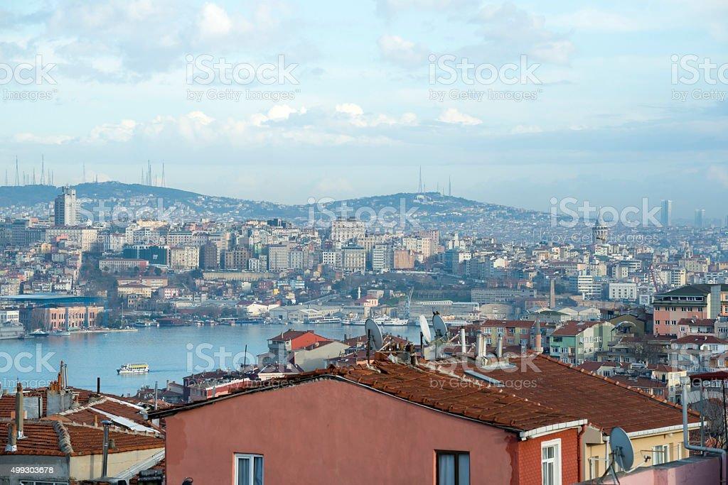 Skyline in Istanbul, Turkey stock photo