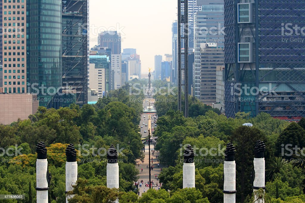 Skyline in Mexico City stock photo