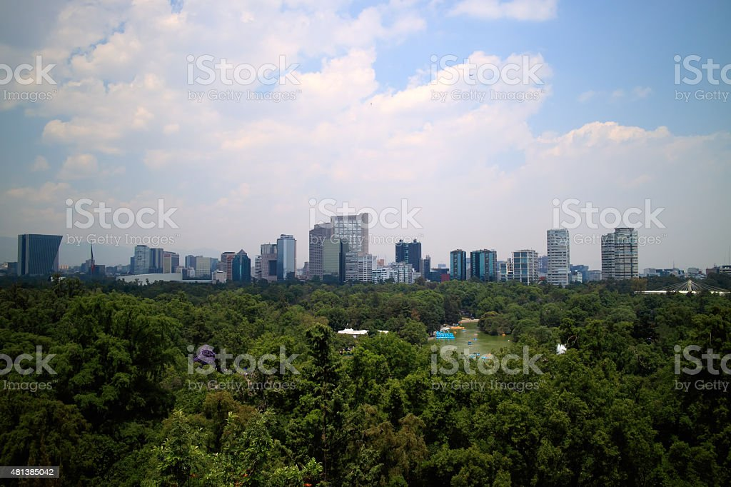 Skyline in Mexico City stock photo