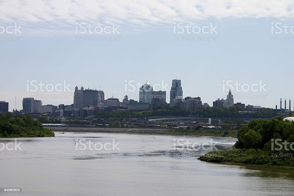 Skyline Kansas City royalty-free stock photo