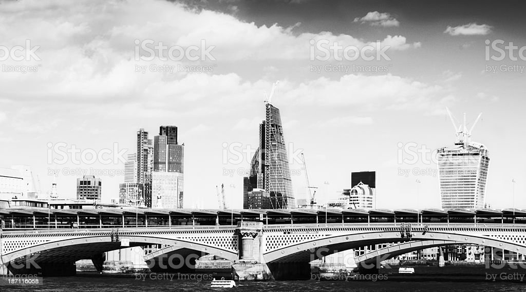 Skyline, London - England. Black And White. royalty-free stock photo