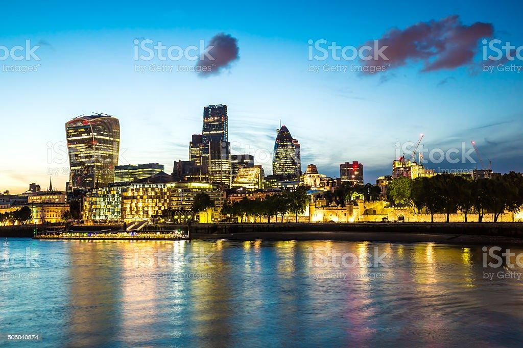 Skyline London stock photo