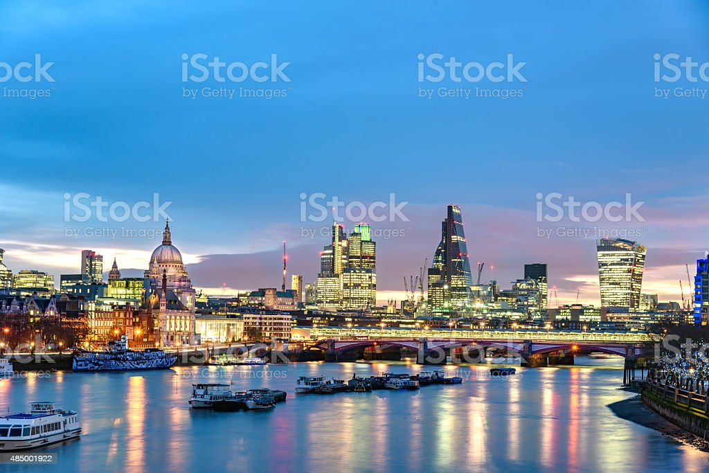 Skyline London, UK stock photo