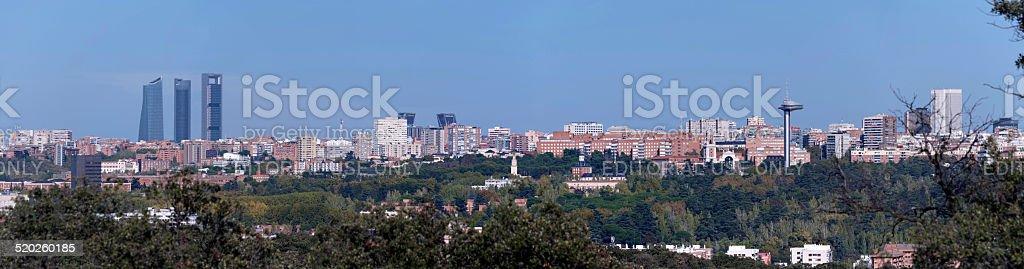 Skyline, Madrid stock photo
