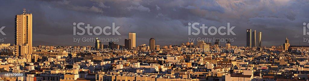 Skyline, Madrid, Spain stock photo