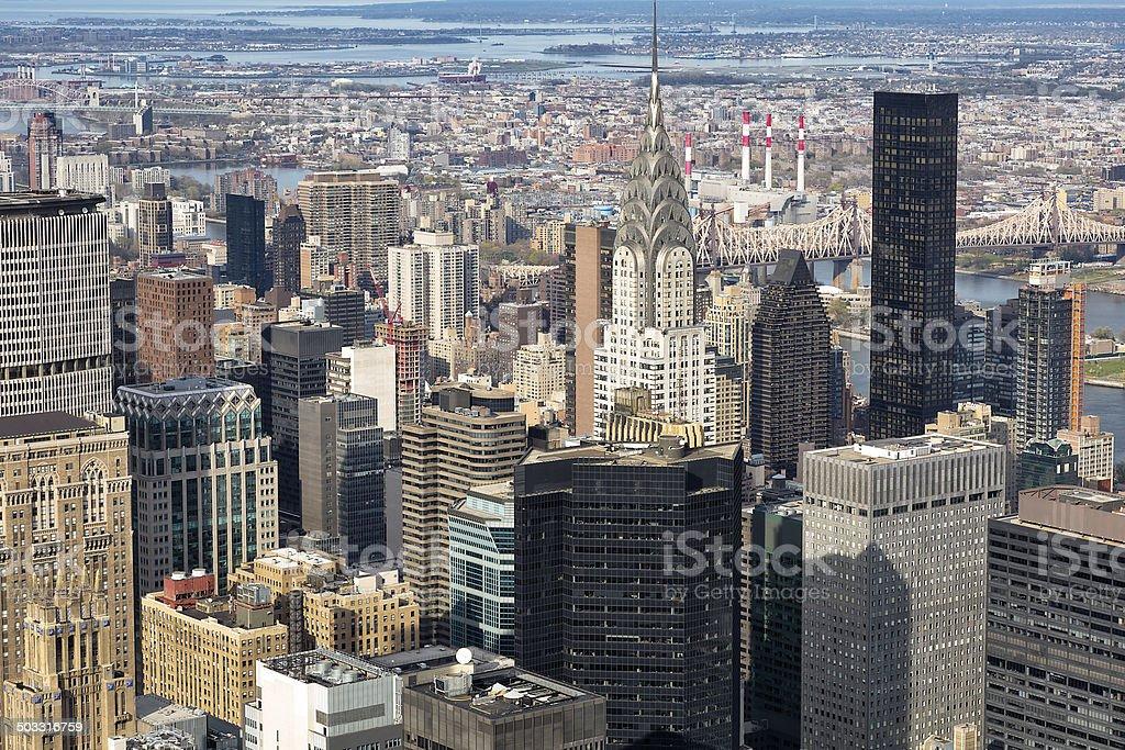 Skyline, Manhattan royalty-free stock photo
