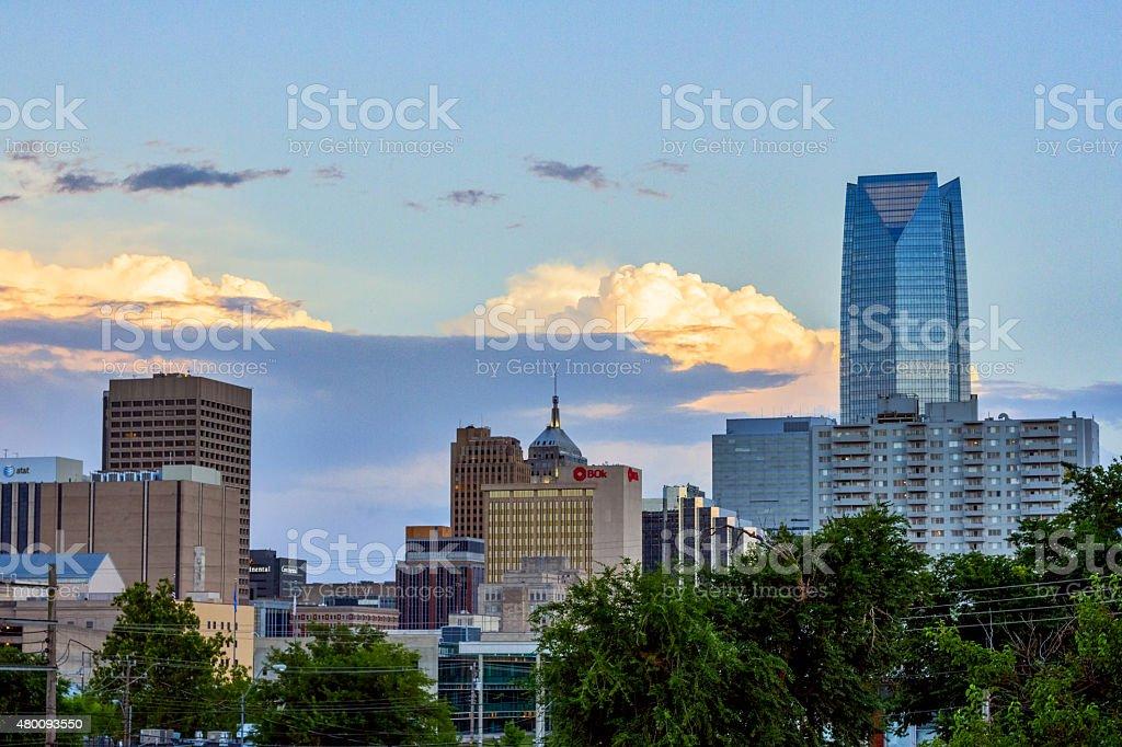 OKC Skyline - midtown stock photo
