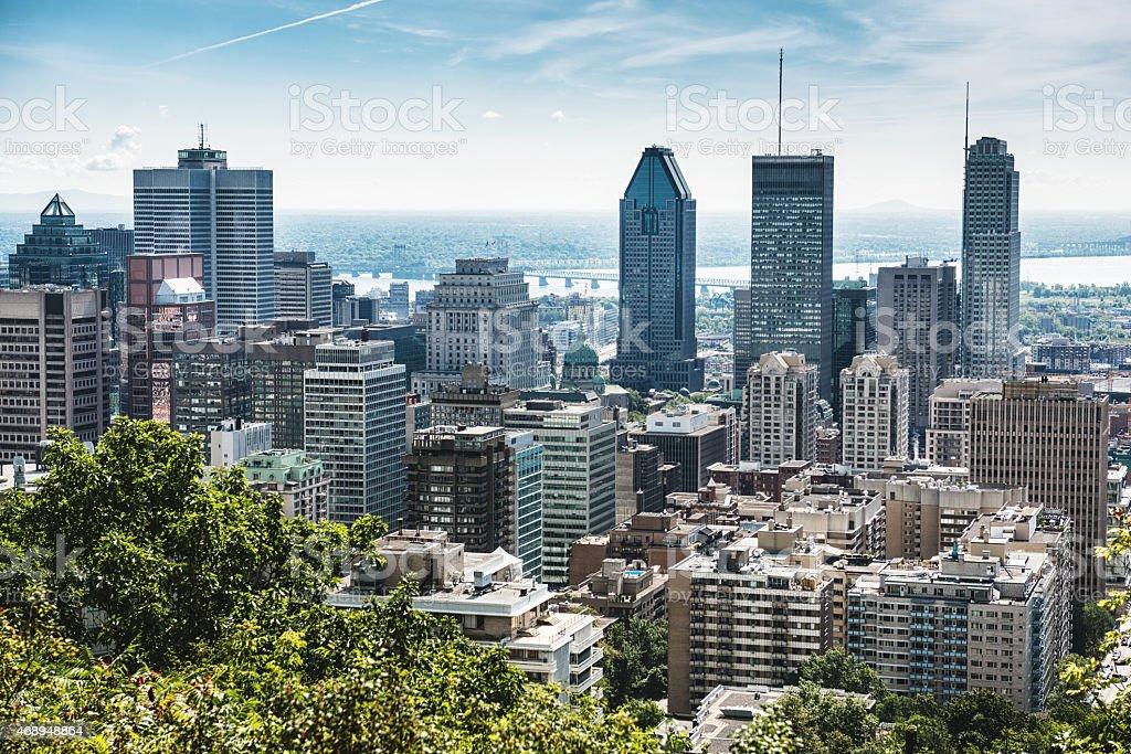 skyline Montreal stock photo