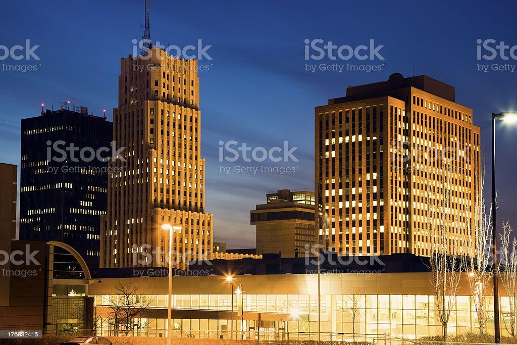Skyline of Akron stock photo