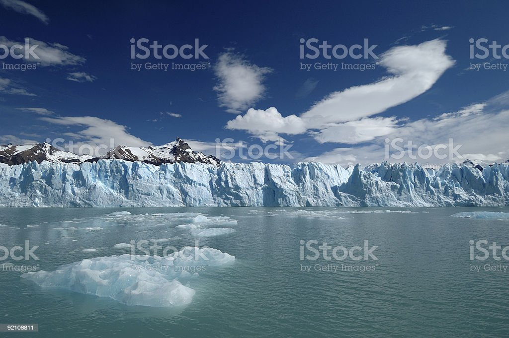 Skyline of an Antarctic glacier royalty-free stock photo