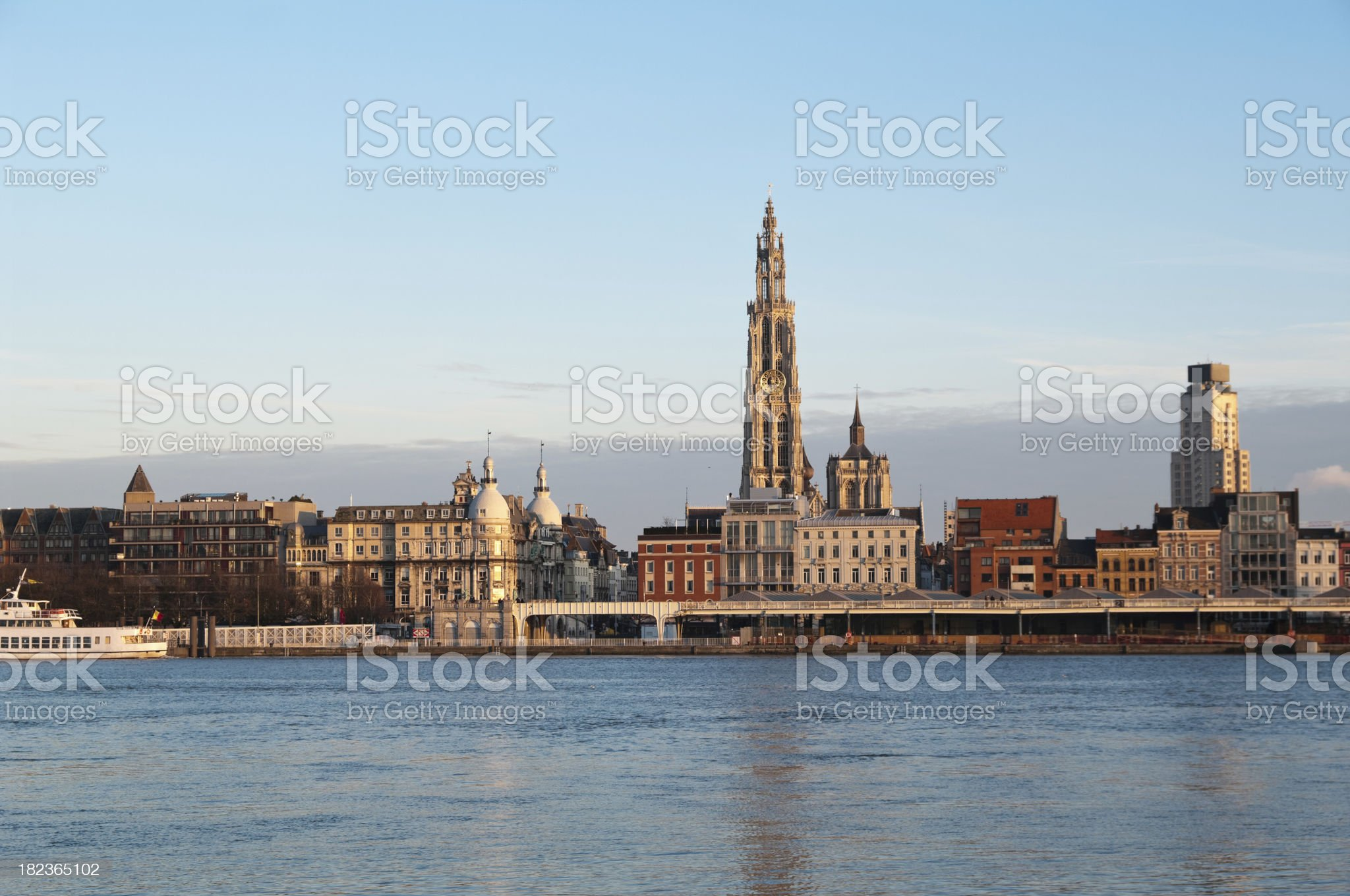 Skyline of Antwerp royalty-free stock photo