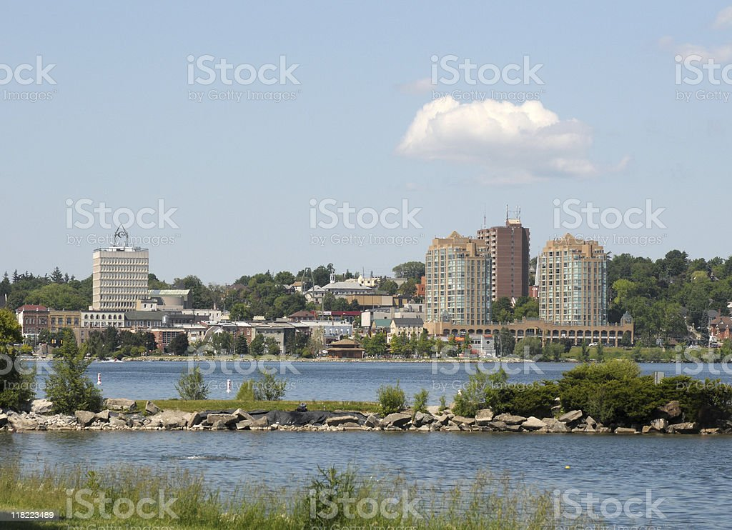 Skyline of Barrie, Ontario stock photo