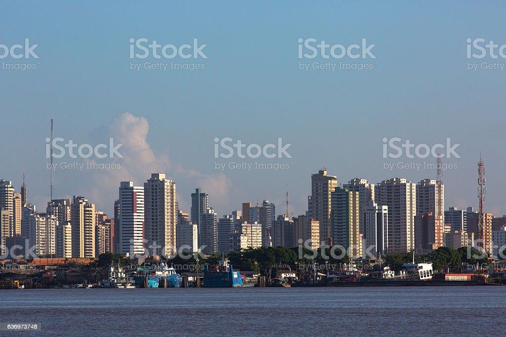 Skyline of Belém, Pará State, Brazil stock photo