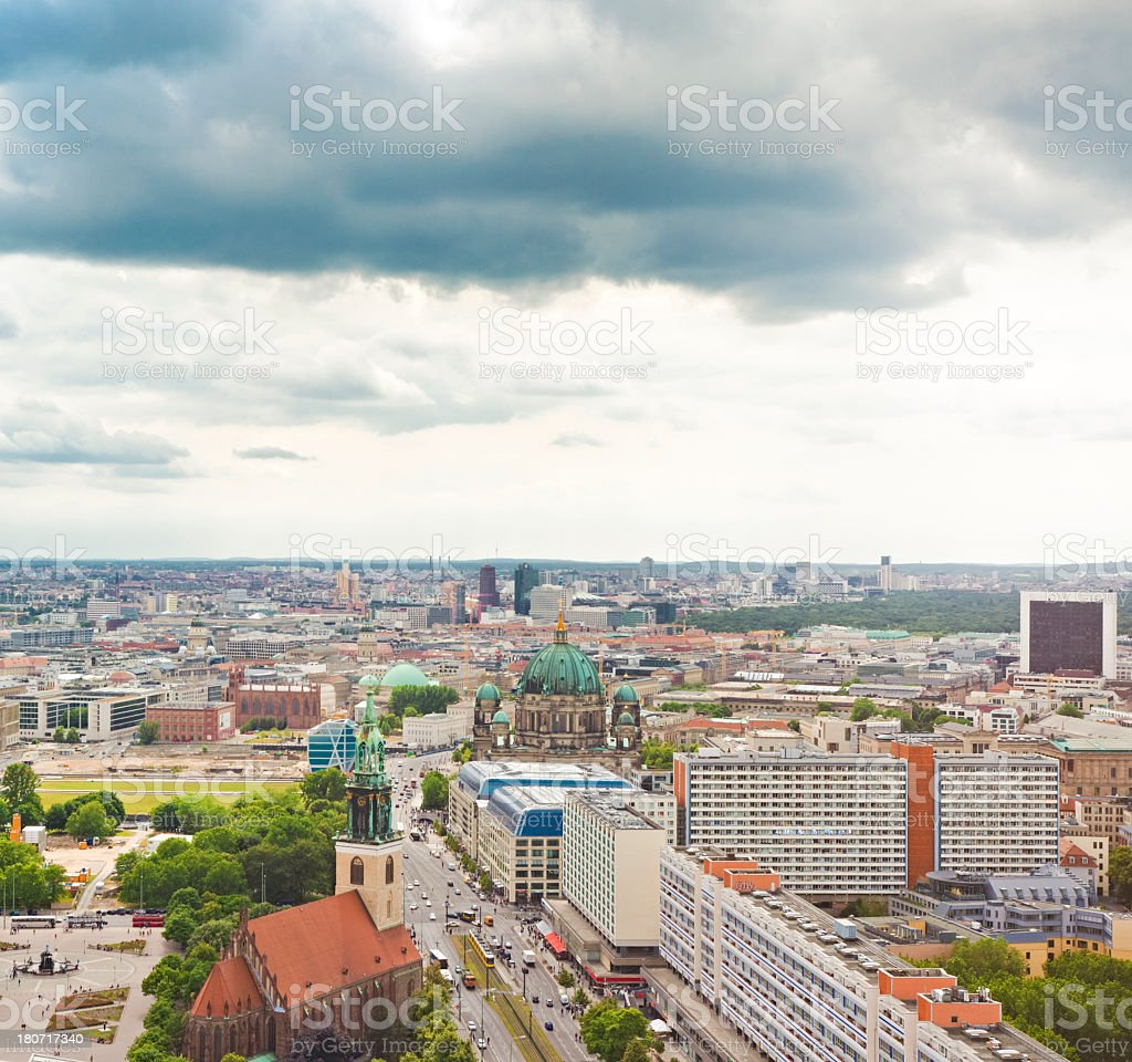 Skyline of Berlin, Germany royalty-free stock photo