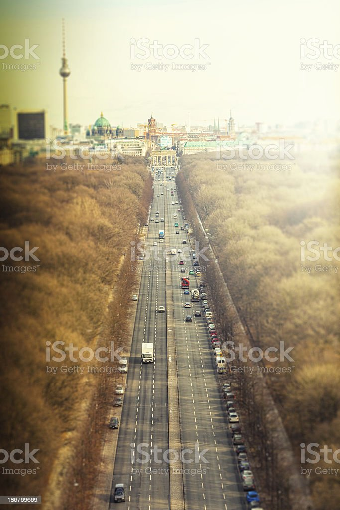 Skyline of Berlin royalty-free stock photo