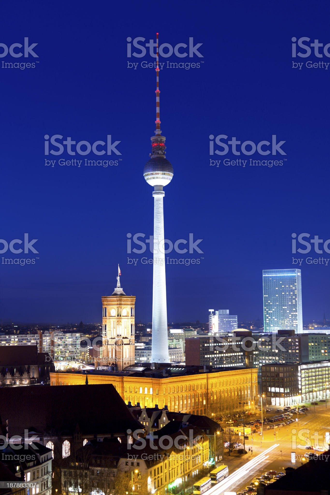 Skyline of Berlin royalty-free stock photo