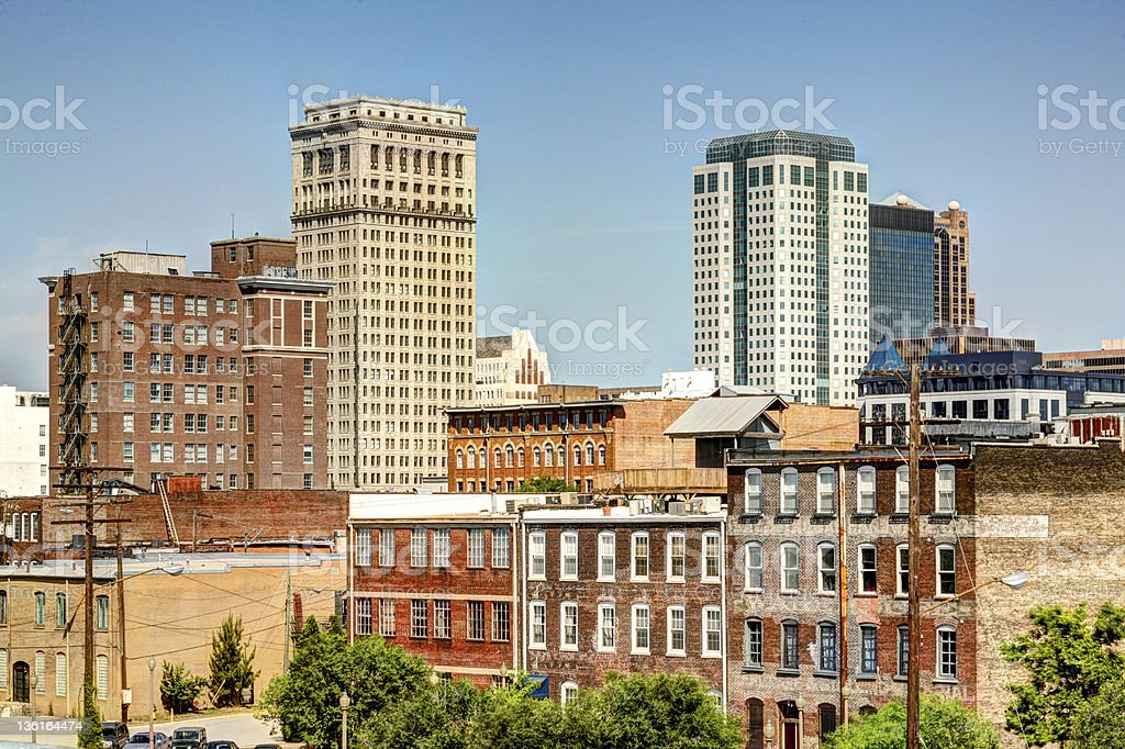 Skyline of Birmingham in Alabama City stock photo