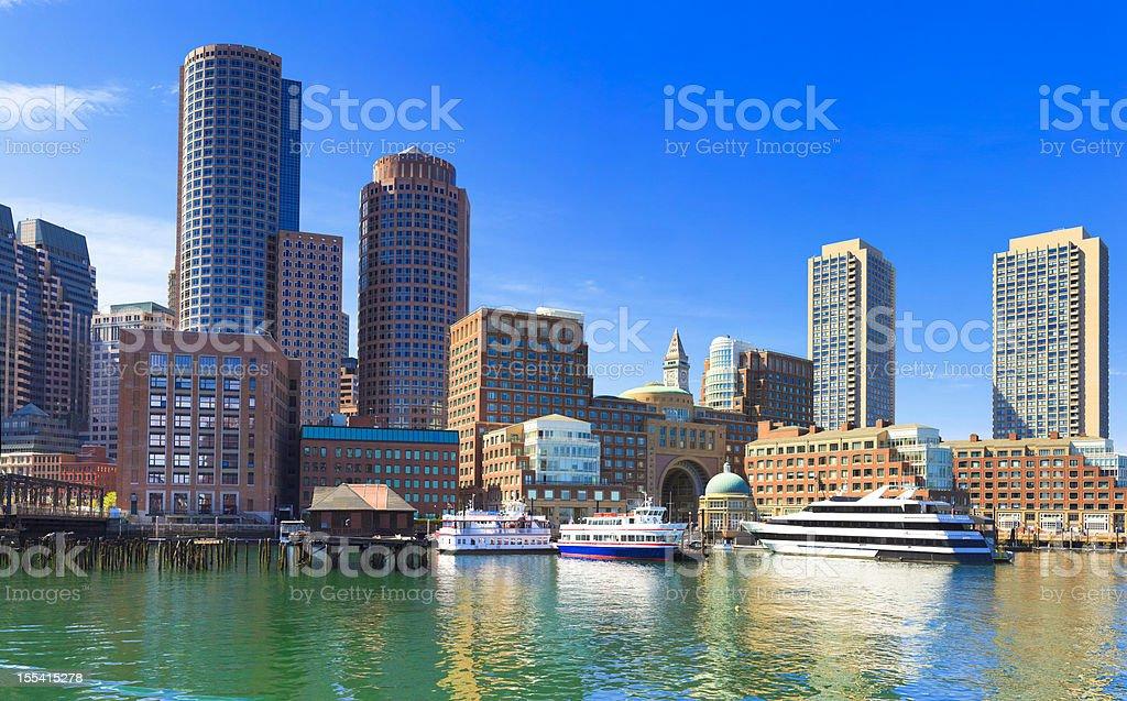 Skyline of Boston, Massachusetts stock photo