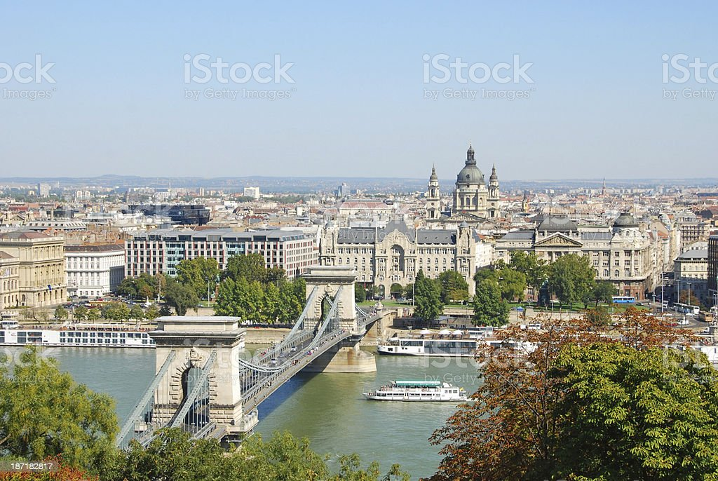 Skyline of Budapest. royalty-free stock photo