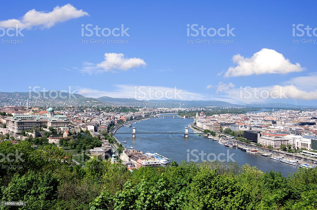 skyline of budapest stock photo