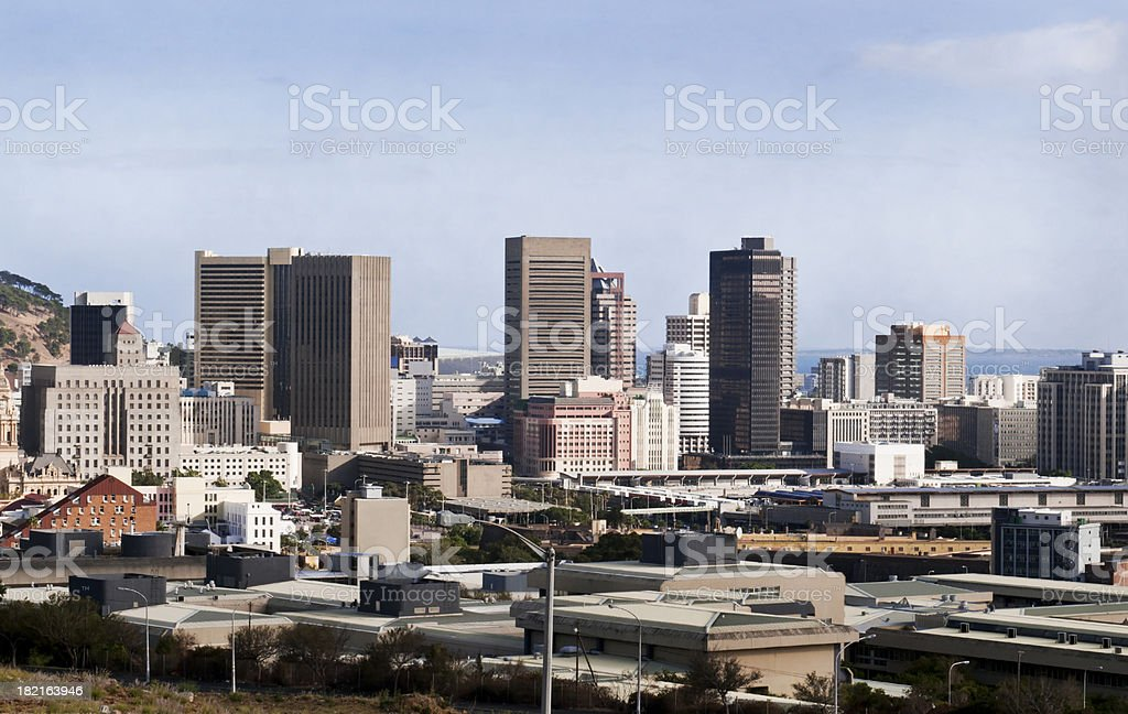 Skyline of business district in Capetown royalty-free stock photo