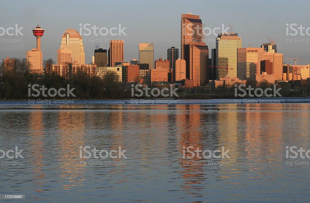 Skyline of Calgary, Alberta, Canada royalty-free stock photo