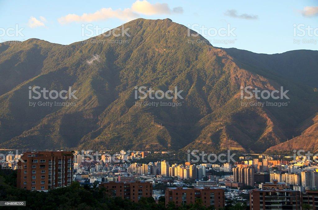 Skyline of Caracas stock photo