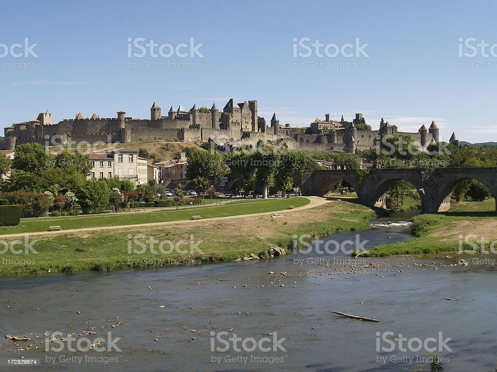Skyline of Carcassonne royalty-free stock photo
