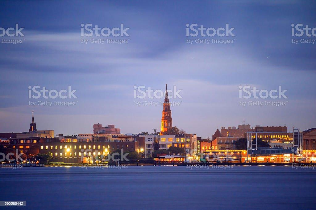 Skyline of Charleston, South Carolina, USA stock photo