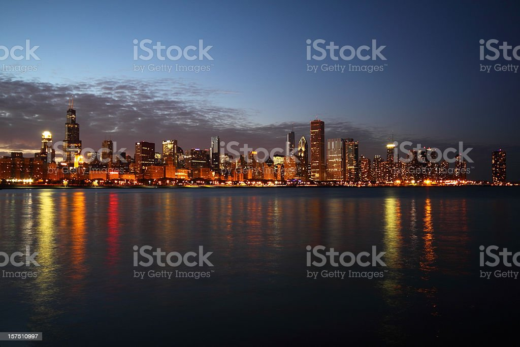 Skyline of Chicago royalty-free stock photo