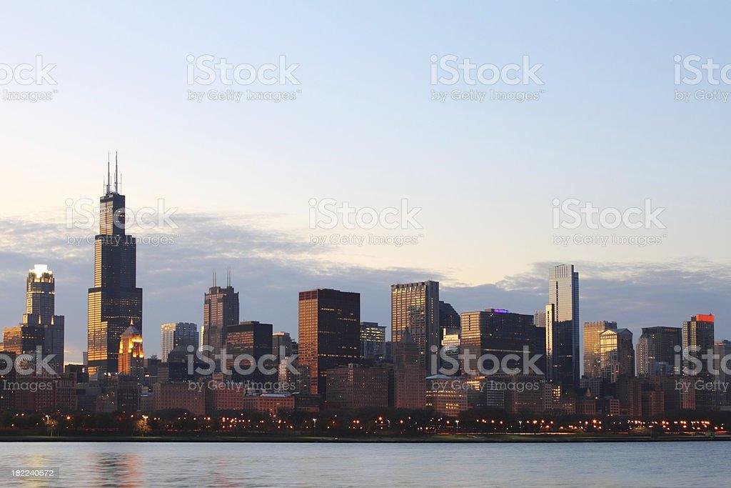Skyline of Chicago royalty-free stock photo