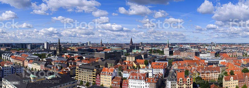 Skyline of Copenhagen stock photo