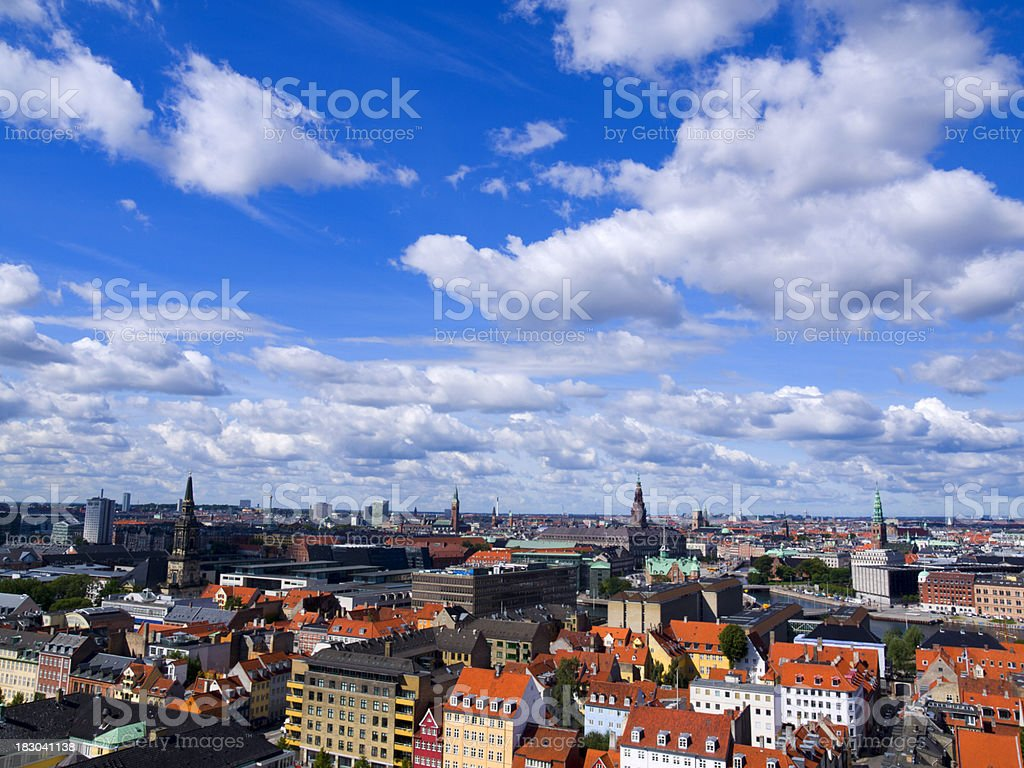 Skyline of Copenhagen stock photo