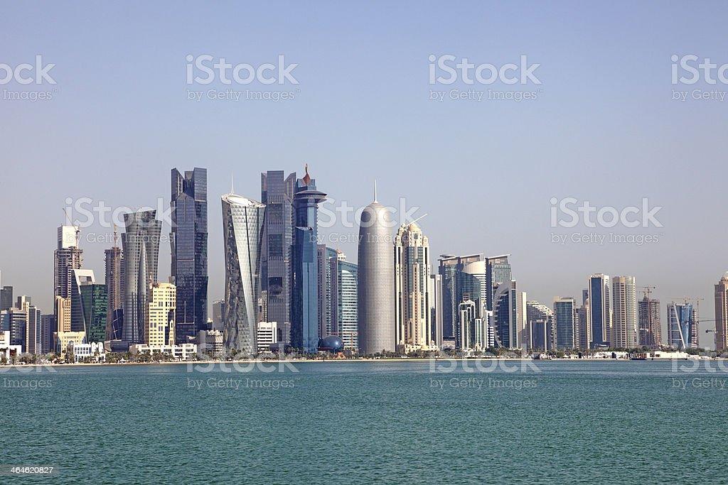 Skyline of Doha. Qatar stock photo