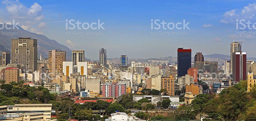Skyline of downtown Caracas stock photo