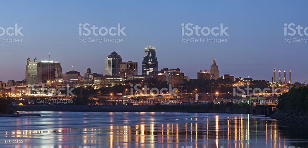 Skyline of downtown Kansas City stock photo
