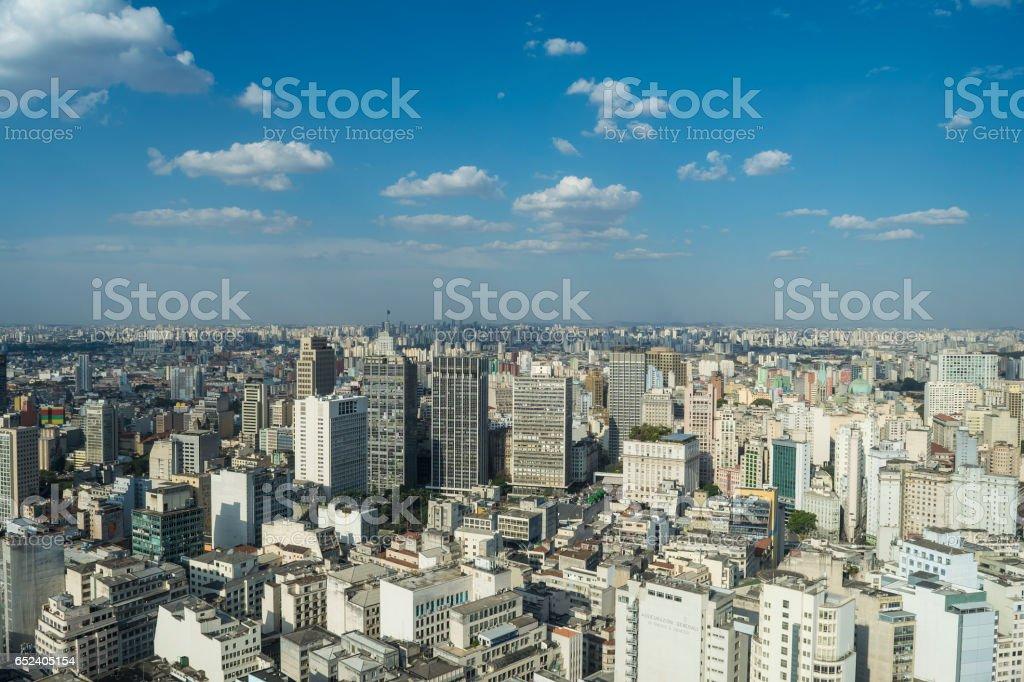 Skyline of Downtown Sao Paulo, Brazil stock photo