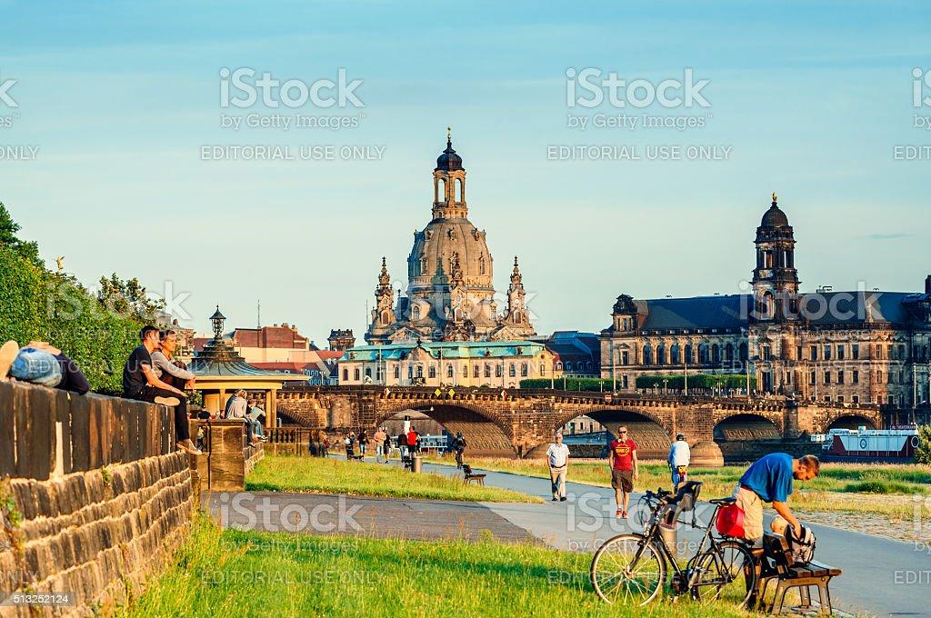 Skyline of Dresden, Germany stock photo