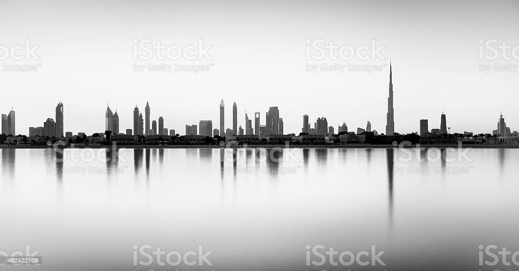skyline of dubai royalty-free stock photo