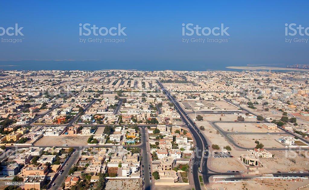 Skyline of Dubai residential district royalty-free stock photo