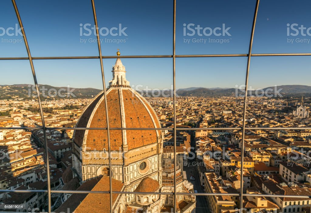 skyline of florence stock photo