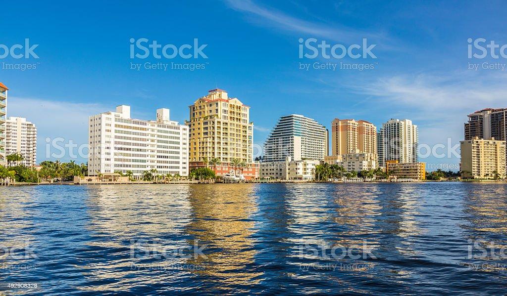 skyline of Fort Lauderdale stock photo