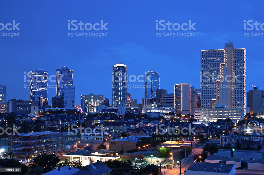 Skyline of Fort Worth, Texas stock photo
