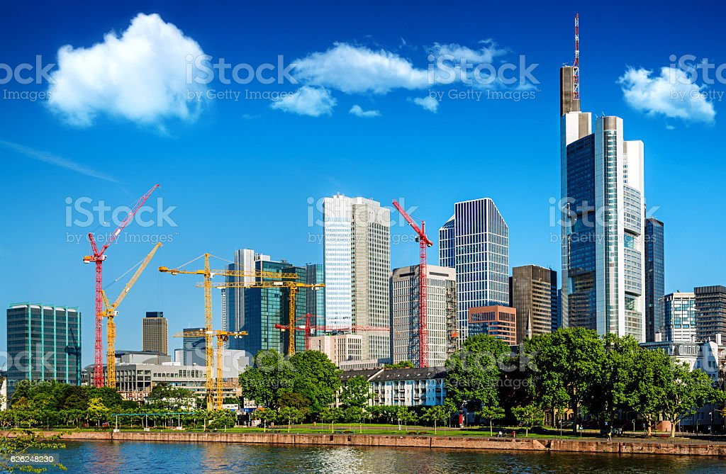 Skyline of Frankfurt am Main, Germany stock photo
