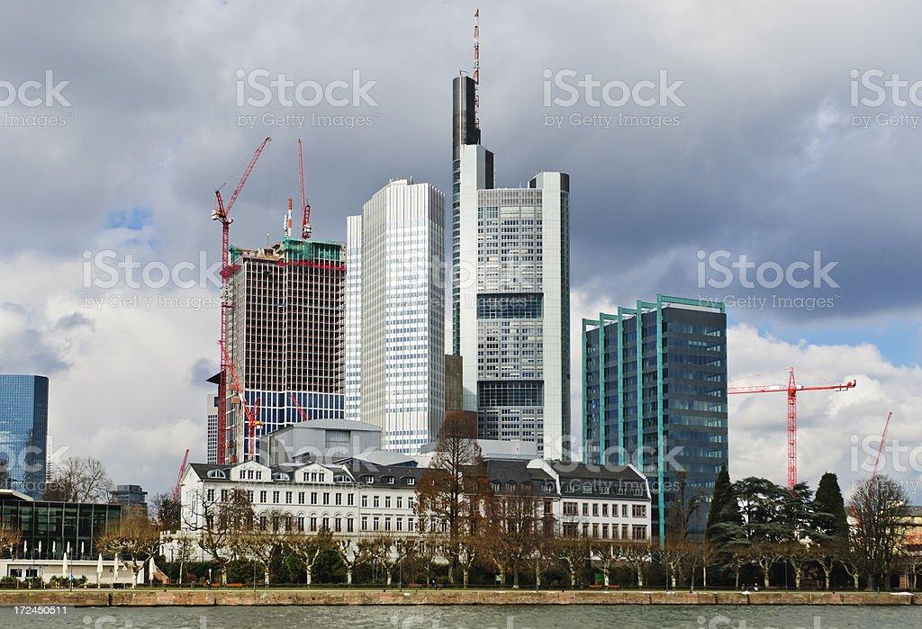Skyline of Frankfurt am Main royalty-free stock photo