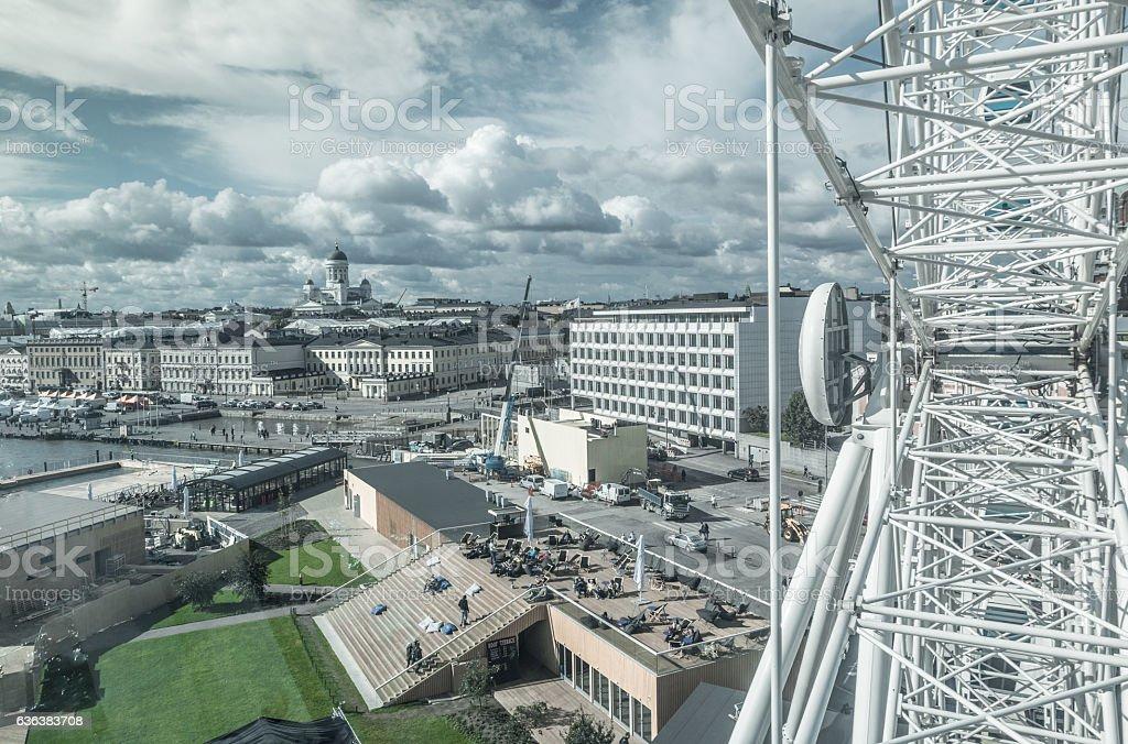 Skyline of Helsinki city in Finland stock photo