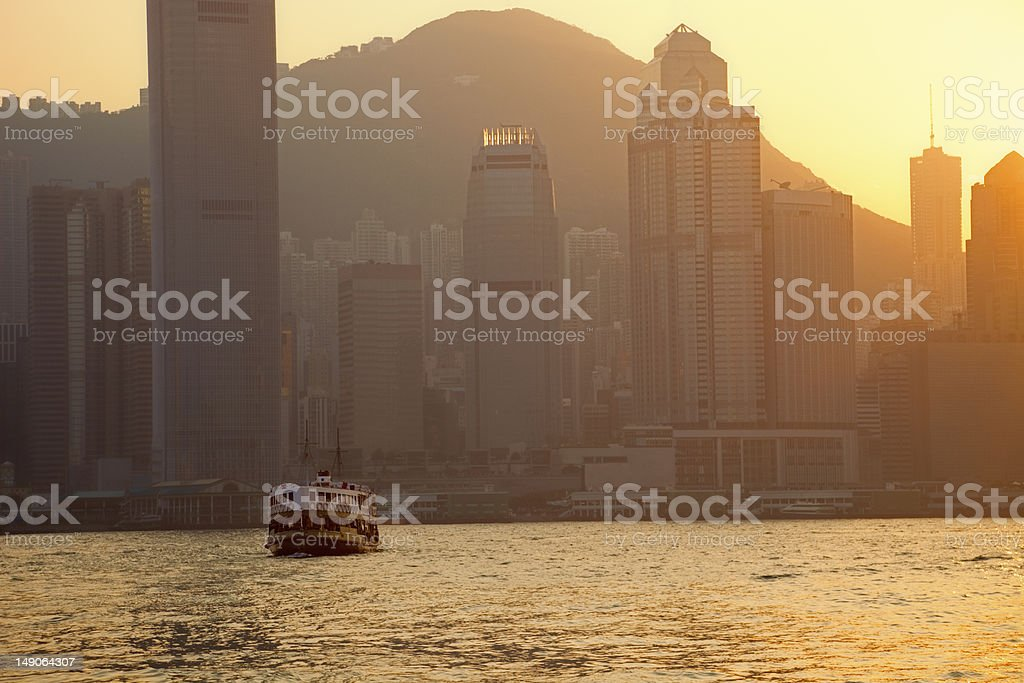 Skyline of Hong Kong at Dusk royalty-free stock photo