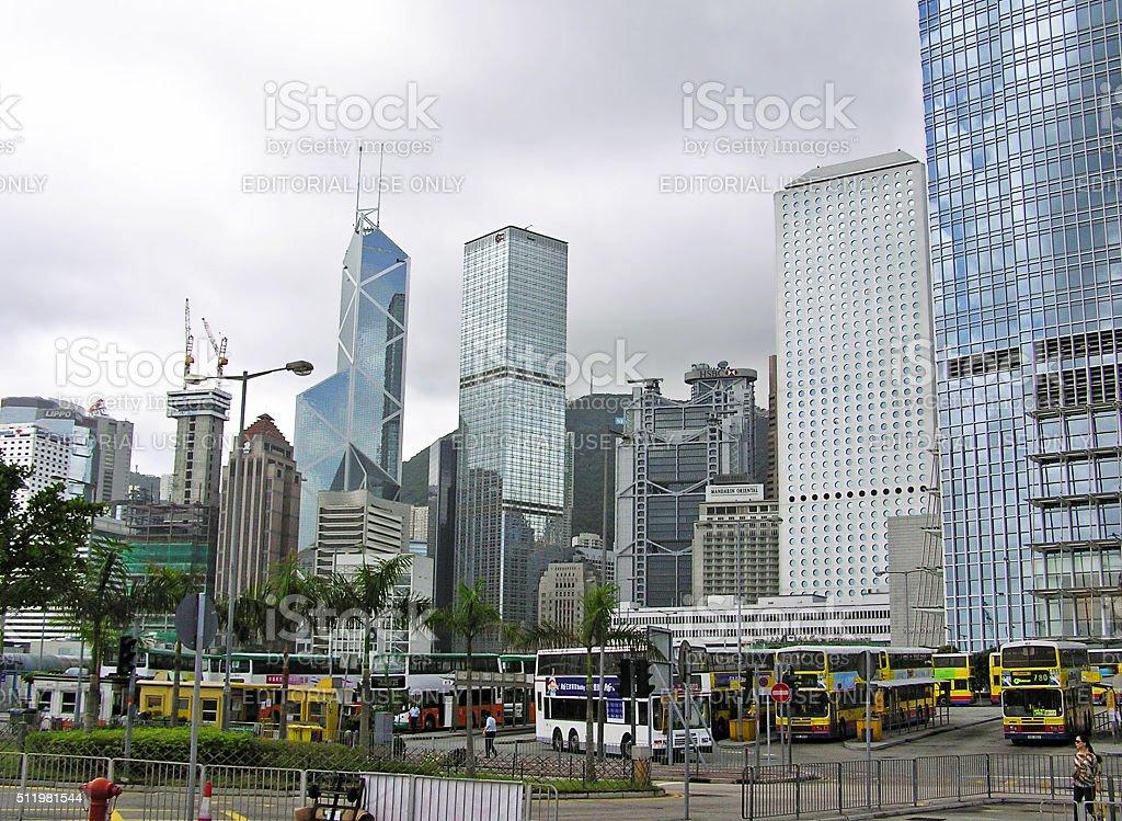 Skyline of Hong Kong Island stock photo