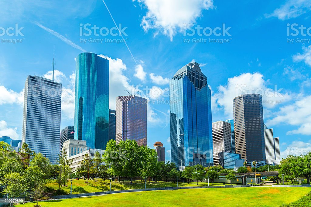 Skyline of Houston, Texas stock photo