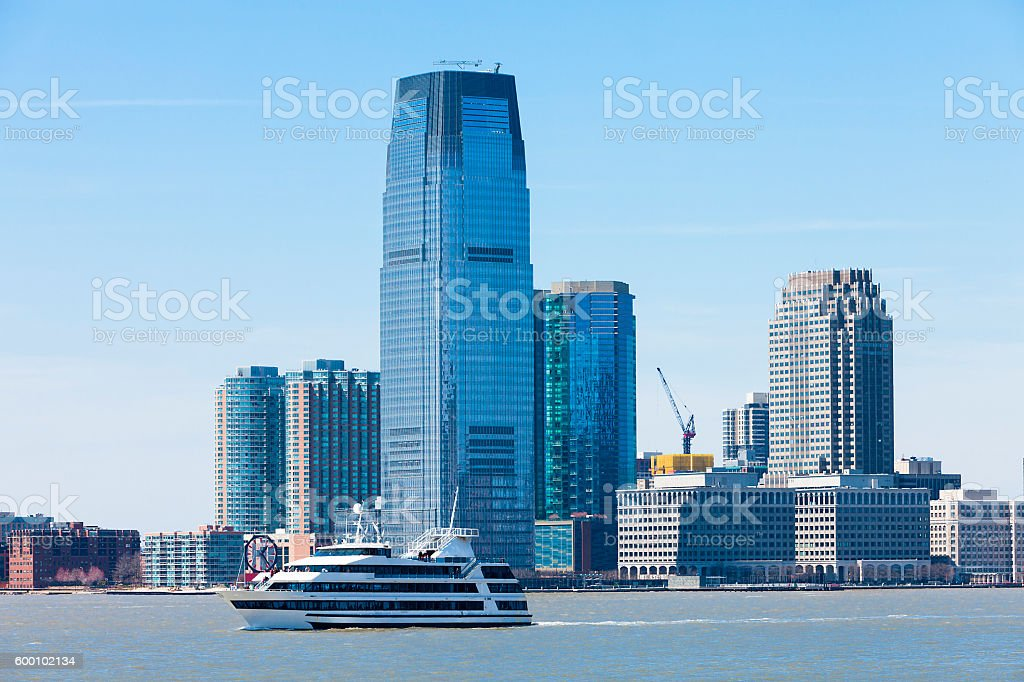 Skyline of Jersey City, New York, USA stock photo